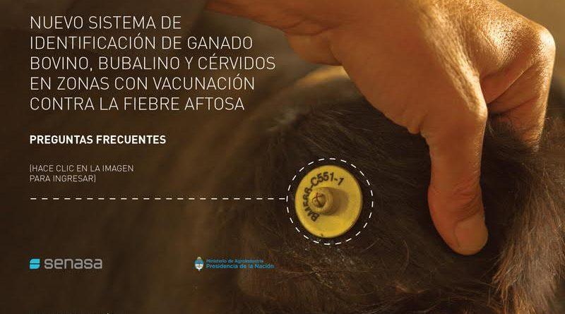 Sistemas Nacional de Identificación de bovinos, bubalinos y cérvidos en zonas libres de aftosa con vacunación